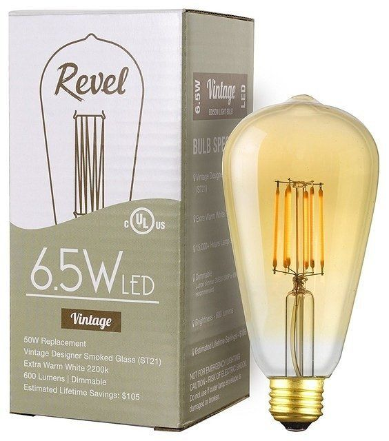 LED 6.5W Dimmable Vintage Edison Light Bulb (50W eq.) - Contemporary - Led Bulbs - by Modum Decor http://ift.tt/2i91zwb  I love that this lightbulb puts out as much light as a 50 watt bulb but only uses 6.5 watts of power. These will really help me save on my electric bills!  #led #lighting #ledlights #ModumDecor