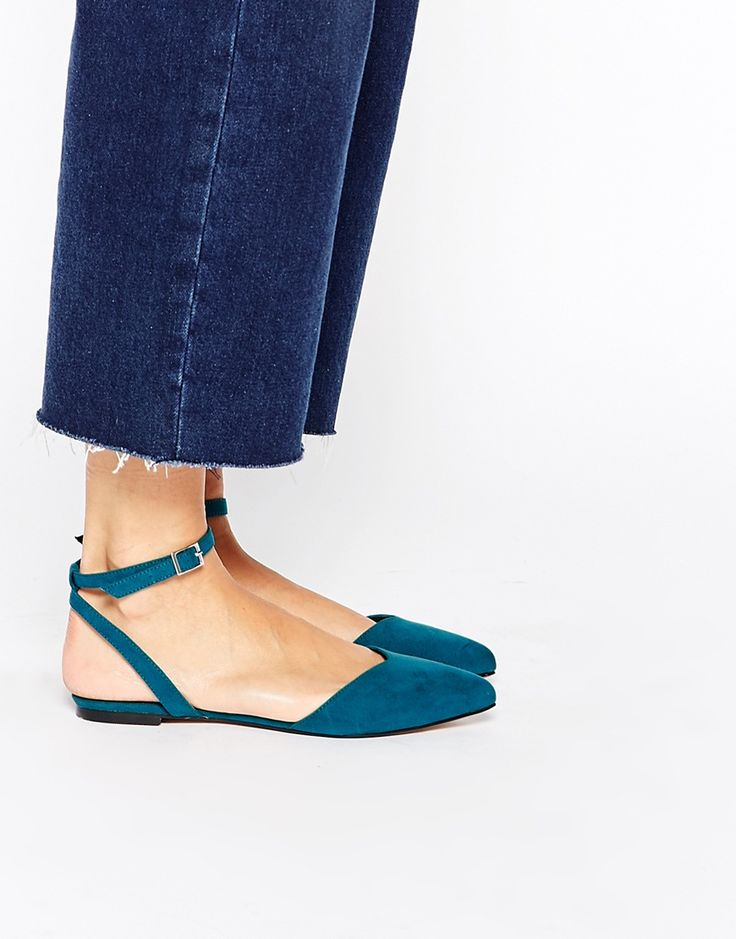 Image 1 of ASOS LUMBA Pointed Two Part Ballets