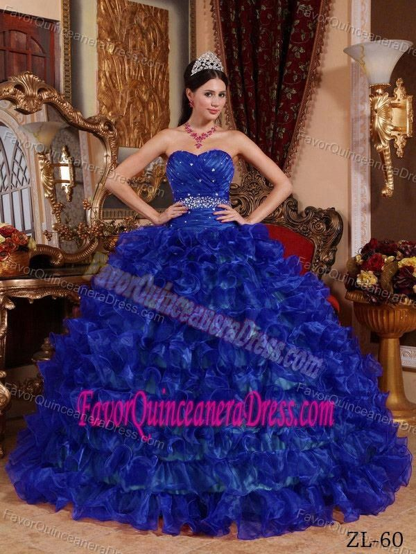 7adc831529c Royal Blue Sweetheart Quinceanera Dresses with Beading and Ruffled Layers   bestquinceaneradresses