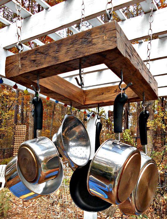 17 best ideas about rustic pot racks on pinterest rustic kitchen products pot rack hanging. Black Bedroom Furniture Sets. Home Design Ideas