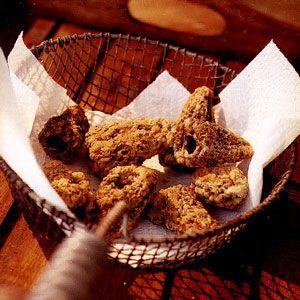 "Iowa Fried Morels - My mom used ""cracker crumbs"".   My Dad was the BEST mushroom hunter ever!"