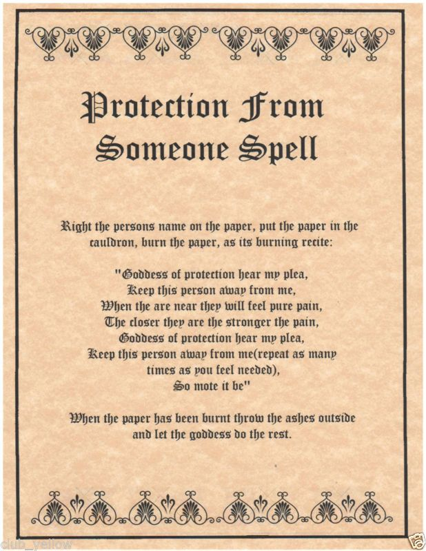 Protection from Someone Book of Shadows Page BOS Pages Real Witchcraft Spell | eBay