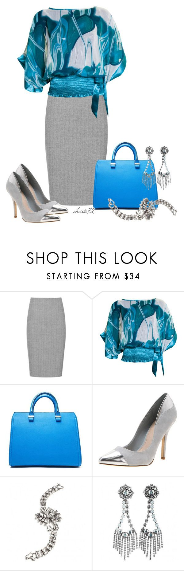 """Office Outfit"" by christa72 ❤ liked on Polyvore featuring Reiss, Victoria Beckham, RMK and DANNIJO"