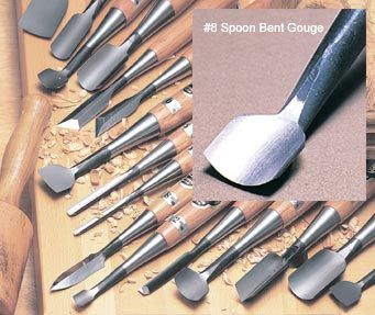 3/4 #8 Spoon Bent Gouge -Takahashi - The Japan Woodworker Catalog