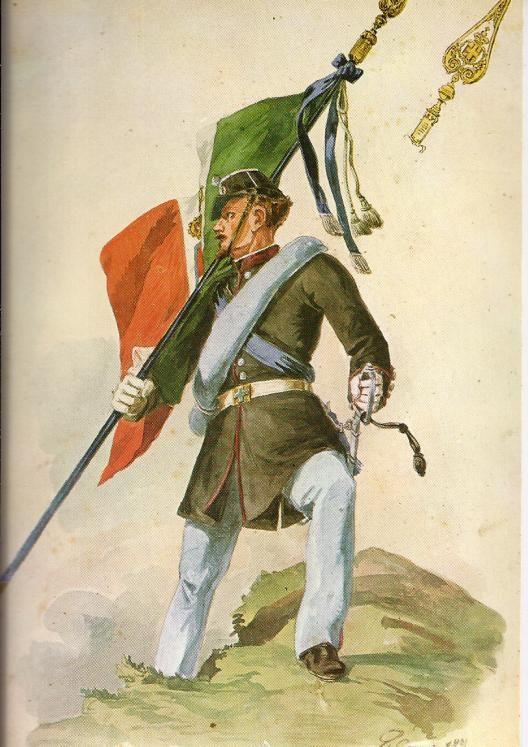 Regio Esercito - Brigata Cuneo, Sottotenente portabandiera