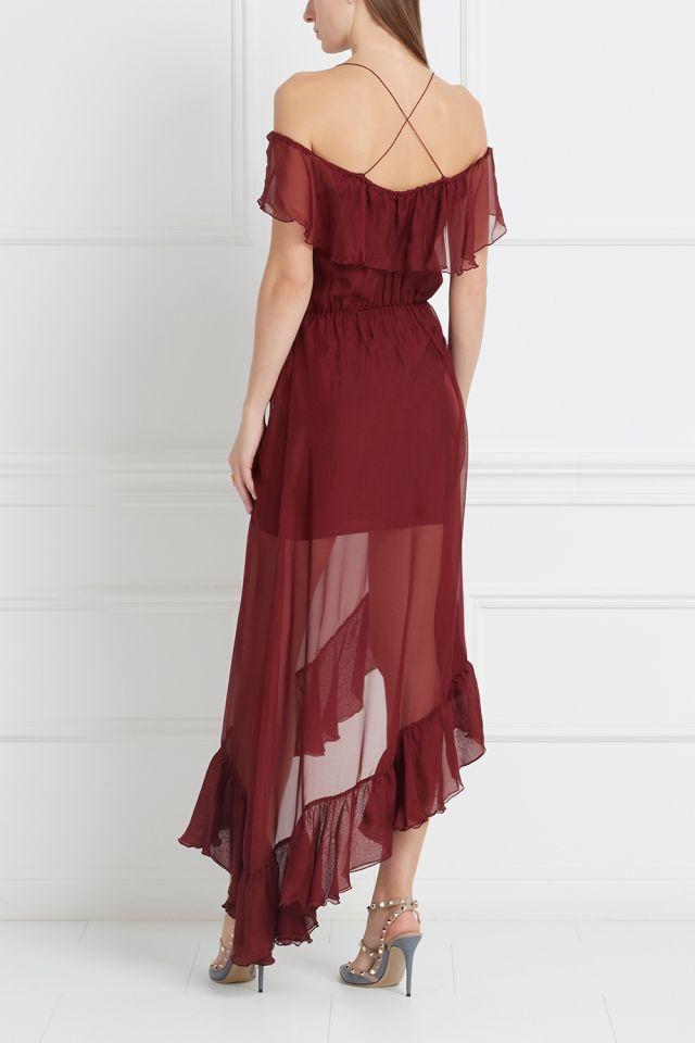 Шелковое платье Haze Long Designers Remix - Вечернее платье с открытой спиной из коллекции датского бренда Designers Remix в интернет-магазине модной дизайнерской и брендовой одежды