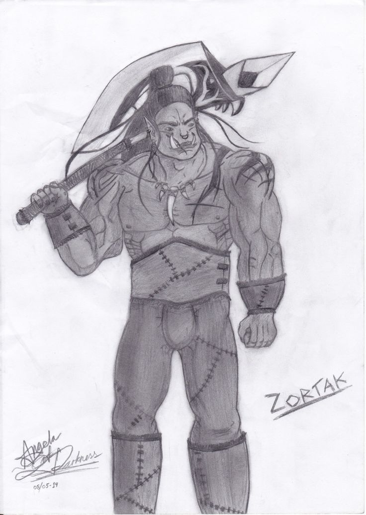 This one is an orc i played in rpg.. His name is Zortak..