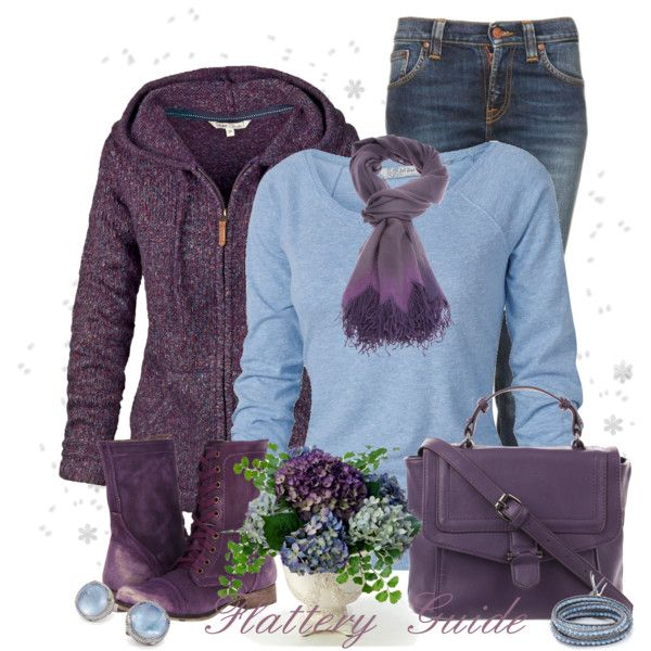 Casual Outfit: Baby Blue, Colors Combos, Fancy Style, Fashion Diaries, Outfits Sets, Charms Style, Green Blue And Purple Outfits, Winter Outfits, Casual Outfits