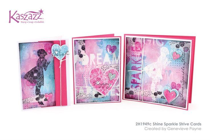 2H1949c Shine Sparkle Strive Cards