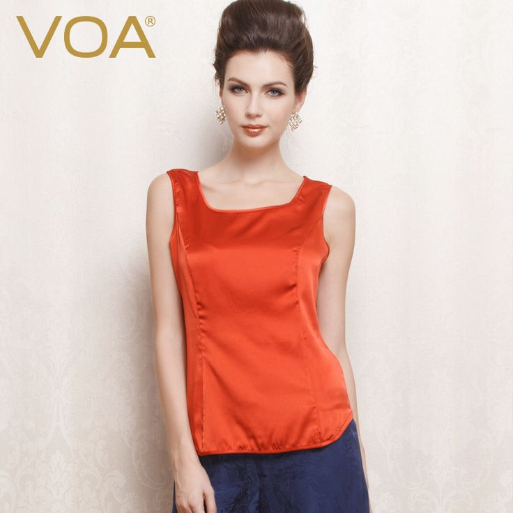 Find More Tank Tops Information about VOA silk white and red color art halter top 2016 new silk tanks comfortable loose woman B1066,High Quality tank moped,China tank pad Suppliers, Cheap tank ladies from VOA Flagship Shop on Aliexpress.com
