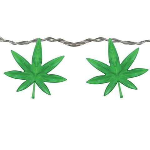 High Lights - Hemp Leaf String Lights - The Hippie House