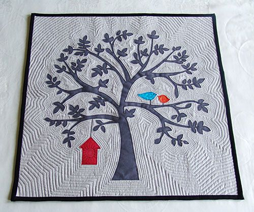 Beautiful echo #quilting on a beautiful tree #quilt