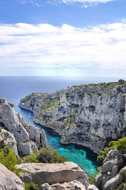 Calanque d'En-Vau - Marseille (Bouches-du-Rhône) by Charlottess, via Flickr