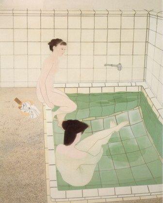 Ogura Yuki, Bathing Women, 1938