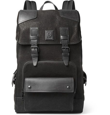 Belstaff - Tourmaster Leather-Trimmed Nubuck Backpack