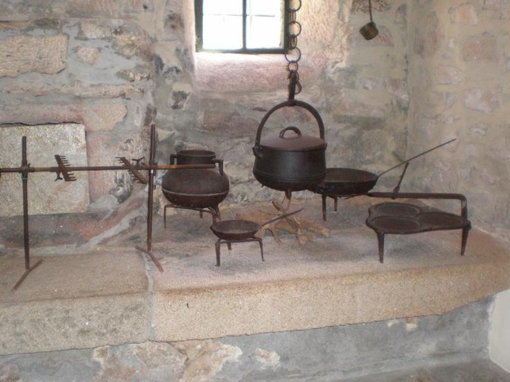 utensilios de cocina del siglo xvII en el castillo de biedenkopf