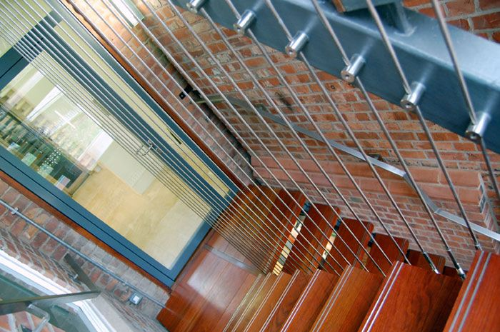 Vertical wire balustrade systems