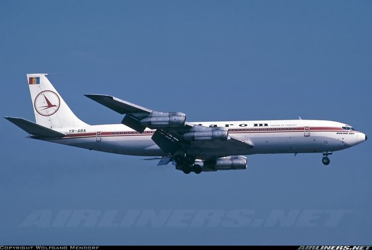 Tarom Romanian Airlines Boeing 707-3K1C (Airliners.net); these were a handful of Western-built aircraft operated by Romania during Soviet years alongside Ilyushin IL-62s, IL-18s, and Tupolev Tu-154s