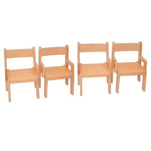 Childrens Furniture Solid Beech Wood Set Of Four Children