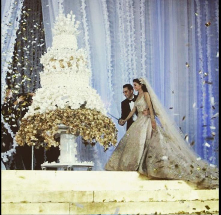 Beautiful Lebanese Wedding Cake