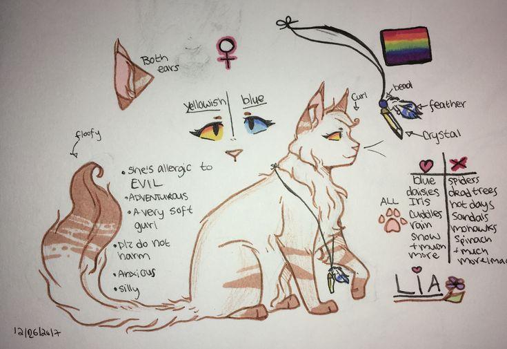 New Ref For My Oc Lia ☆k 229 T☆ Otakucat Warrior Cats