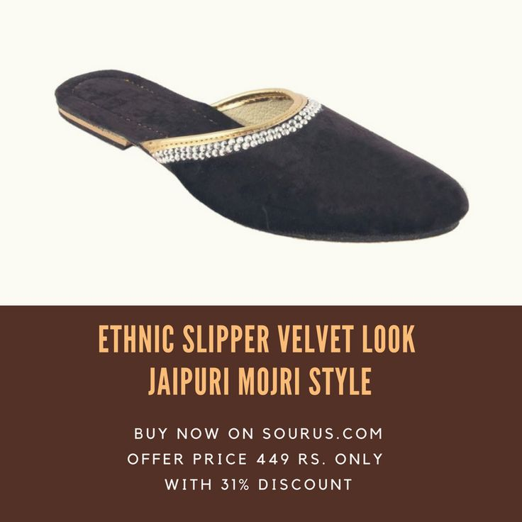 #ethnic #velvet #style #looks #Jaipuri #mojri #women #fashion #wear #discounts #discount #offers #deals #footwear
