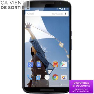 Smartphone Boulanger, achat Téléphone portable sans abonnement MOTOROLA Nexus 6 Bleu Nuit 32 Go prix promo Boulanger 599,00 € TTC