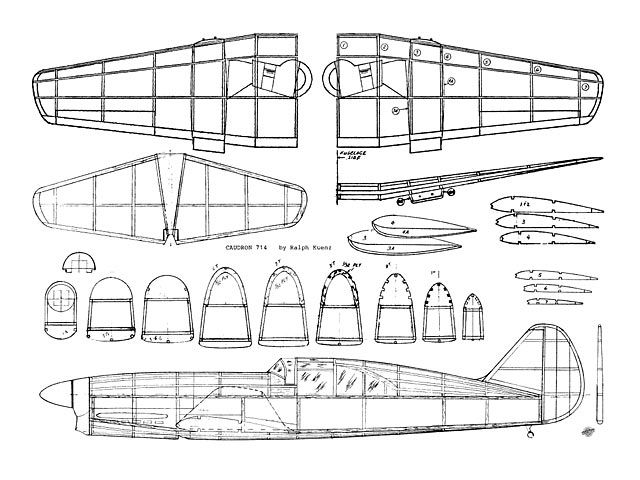 Caudron C-714 - plan thumbnail