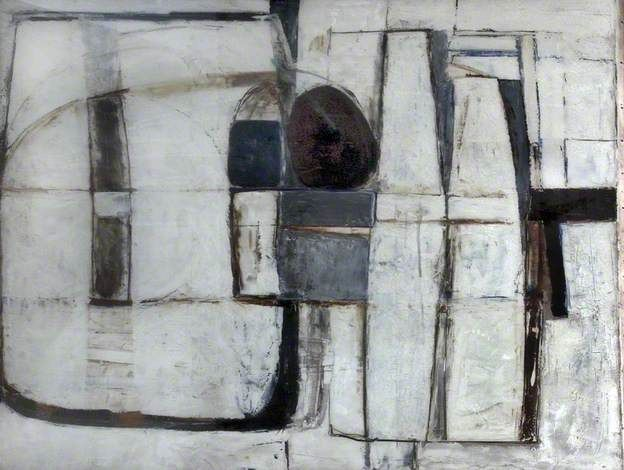 Paul Feiler - Enclosed Forms, Brown and Blue, 1965