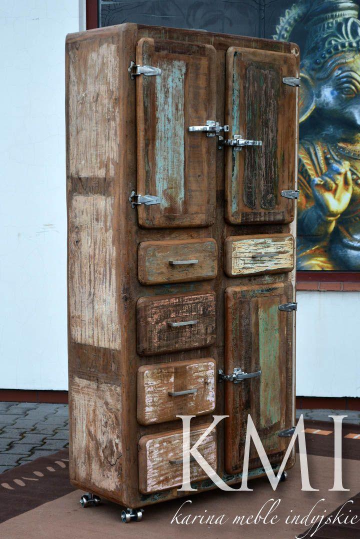 """Szafa lodówka z kolekcji """"Safe Loft"""" przyciąga uwagę dużą ilością schowków i niecodziennym designem. Meble loftowe znajdują coraz szerszy krąg sympatyków"""