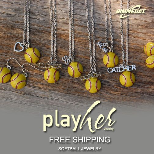 Accessorize in style with our PlayHer softball jewelry line.  http://www.gimmedatusa.com/jewelry/softball