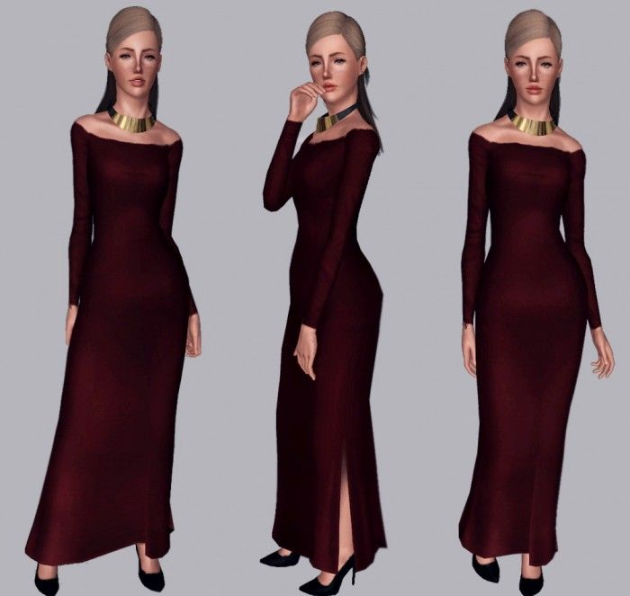Sims 3 maternity maxi dress