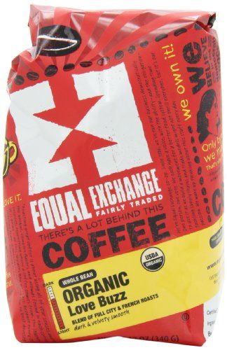 Equal Exchange Love Buzz Blend Organic Coffee Bean, 12-Ounce Package - http://goodvibeorganics.com/equal-exchange-love-buzz-blend-organic-coffee-bean-12-ounce-package/