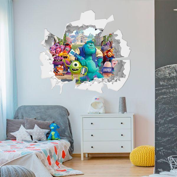 Pegatina de pared infantil para niños con efecto 3D  para decorar tu hogar