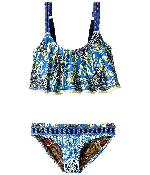 Maaji Kids Hello Adventure Ruffle Tankini Set (Toddler/Little Kids/Big Kids) at Zappos.com