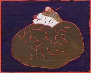熊谷守一〈眠り猫〉