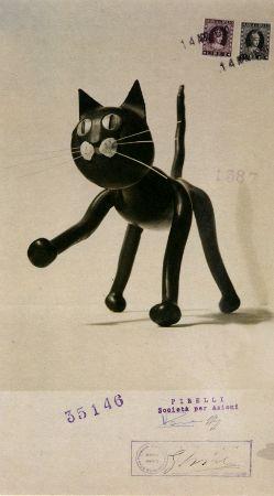 """Bruno Munari, brevetto del gatto in gommapiuma """"Meo Romeo"""", 1950"""