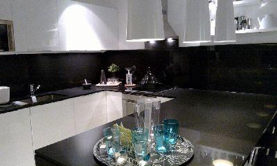 black caesar stone engineered quartz man made stone benchtop counter top splashback back splash