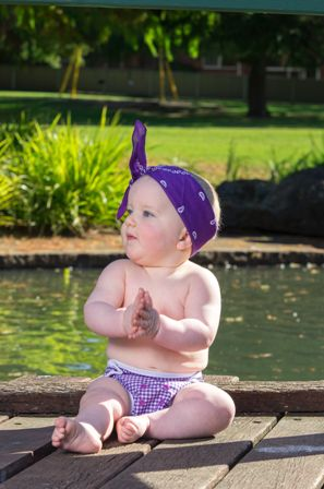 Paddle Pants by Seedling Baby - swim, wash and wear again! Too cute