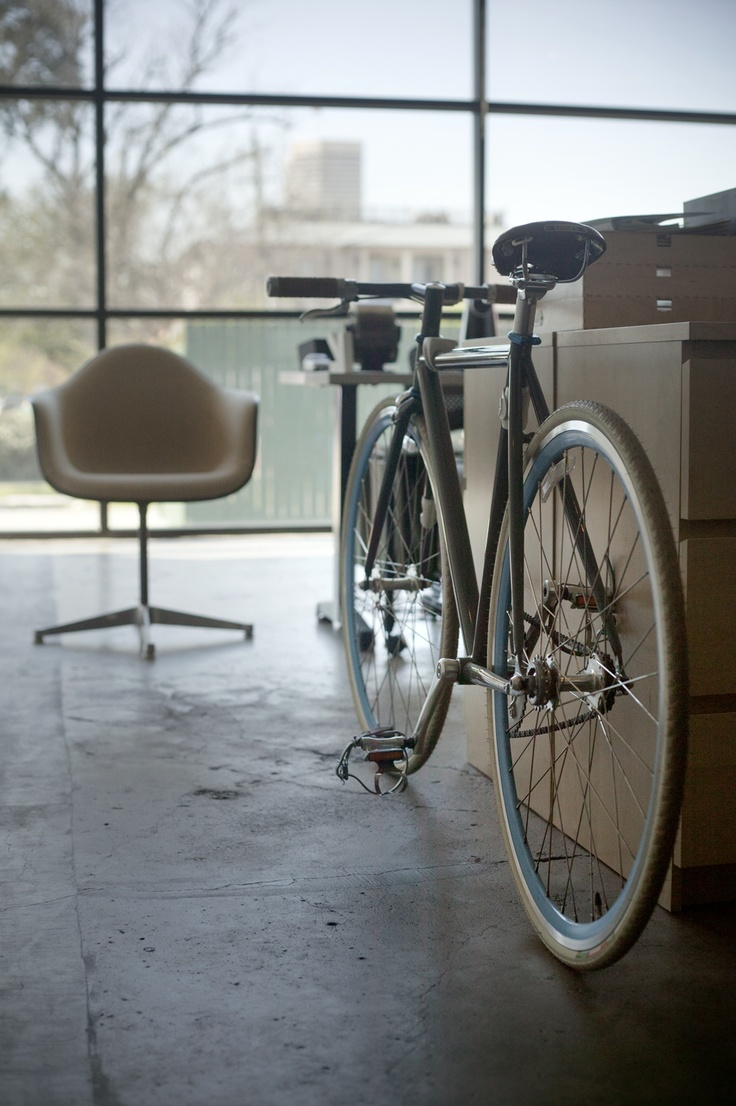 Look jeremy s bicycle rack apartment therapy - Where To Put Your Bike In The Office