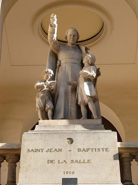 St. Jean Baptiste de la Salle, patron saint of teachers.