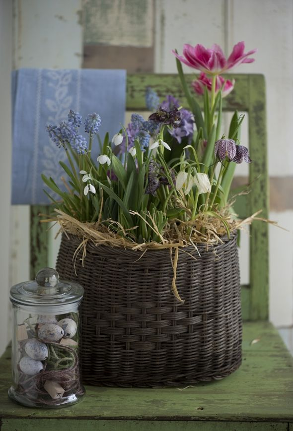 Pynt til påske med pasteller | ISABELLAS - lovely basket of spring flowers