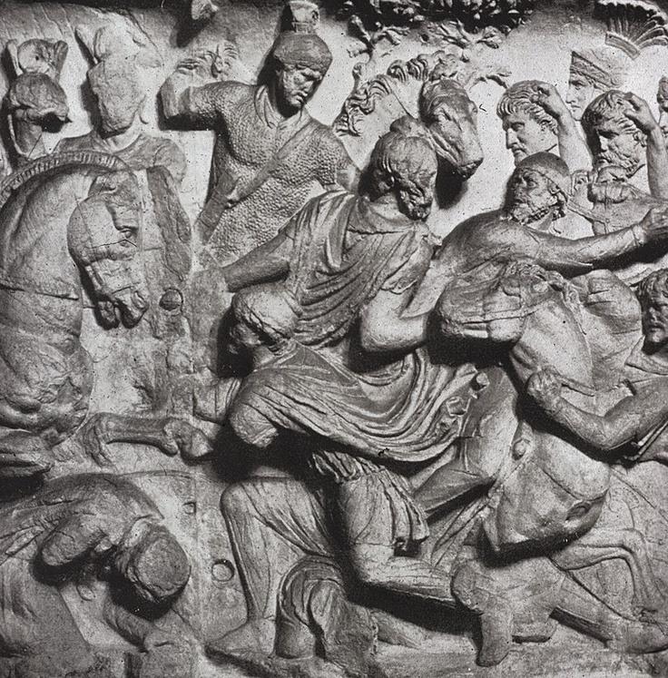 Column of Trajan- Romans conquer the Dacians. Frieze