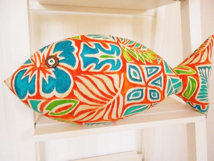 Tropical Fish Pillow - Key West Decor - Hawaiian Pillow - Tiki Bar Decor by CatherinePicone on Etsy https://www.etsy.com/listing/225264548/tropical-fish-pillow-key-west-decor