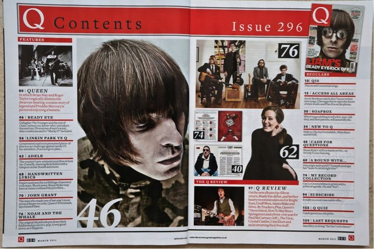 Unusual for the contents page to be a double page however this layout really works. The pictures in the middle are nice and there is enough text