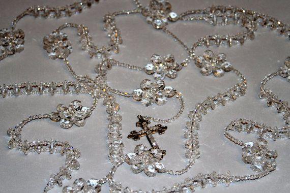 Breathtaking Crystal Lasso Wedding RosaryElegant by alabelys, $179.00