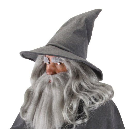 Gandalf Wizard Hat Adult Lord Of The Rings Hobbit Grey Sorcerer Quality Licensed @ niftywarehouse.com