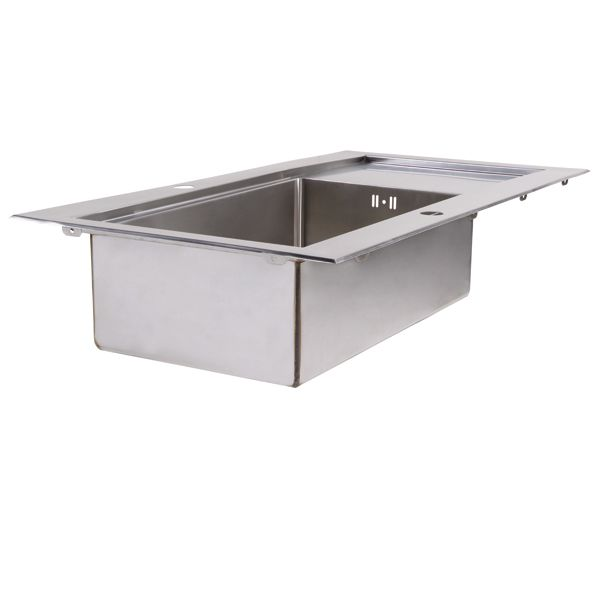 Simple evier inox grande cuve axine castorama with evier for Evier simple cuve
