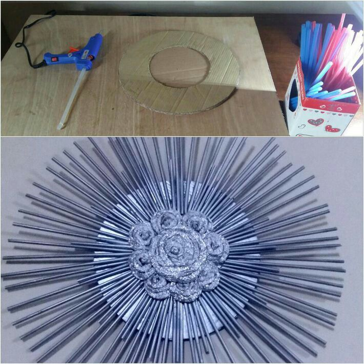 Diy Home Decor Using Aluminium Foil And Drinking Straws Repurpose