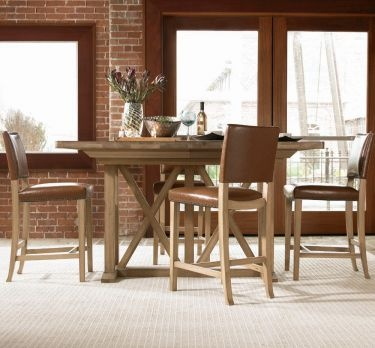 My new kitchen table  LOVE IT Forecast Village Rectangular Counter Height  Trestle Dining10 best Dining nook images on Pinterest   Dining nook  Dining room  . Kincaid Stonewater Tall Dining Table. Home Design Ideas